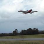 VH-EZT at serpentine airfield takeoff