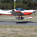 VH-EZT CSA pipersport sportscruiser parked at Bunbury Airport takeoff