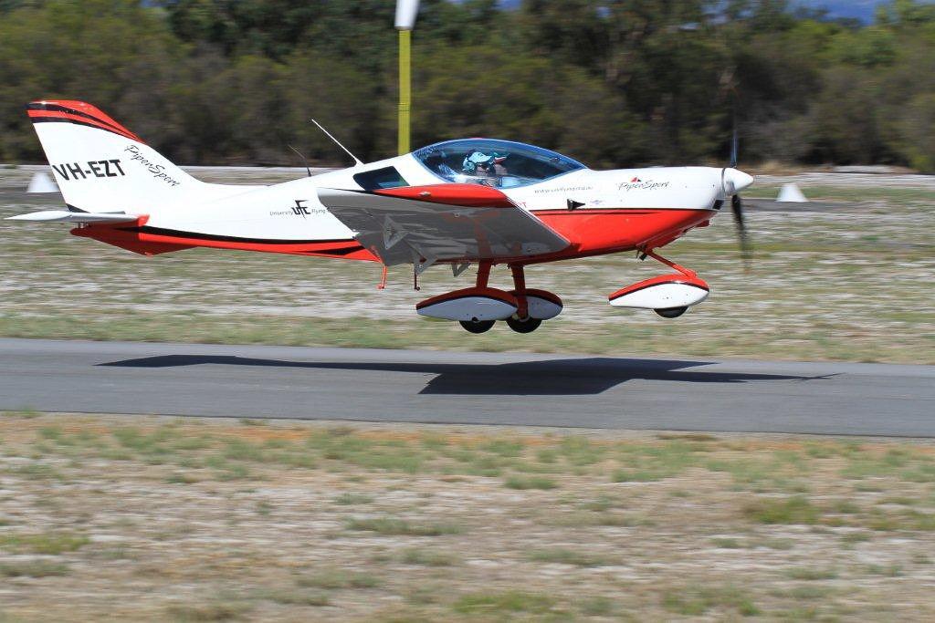 VH-EZT CSA pipersport sportscruiser parked at Bunbury Airport takeoff