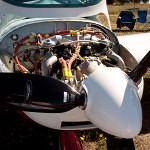 VH-EZT CSA pipersport sportscruiser parked at westfly 2012 rotax engine bay