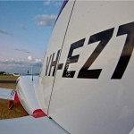 VH-EZT at Busselton Airport Tail shot