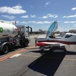 VH-EZT CSA pipersport sportscruiser parked at jandakot airport refuelling air bp