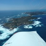 VH-EZT CSA pipersport sportscruiser flying around rottnest island