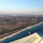 VH-EZT CSA pipersport sportscruiser perth city beaches coastline from the air