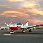 VH-EZT CSA pipersport sportscruiser learn to fly parked at jandakot near jandakot flight centre sunset