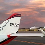 VH-EZT CSA pipersport sportscruiser learn to fly parked at jandakot near flight centre sunset