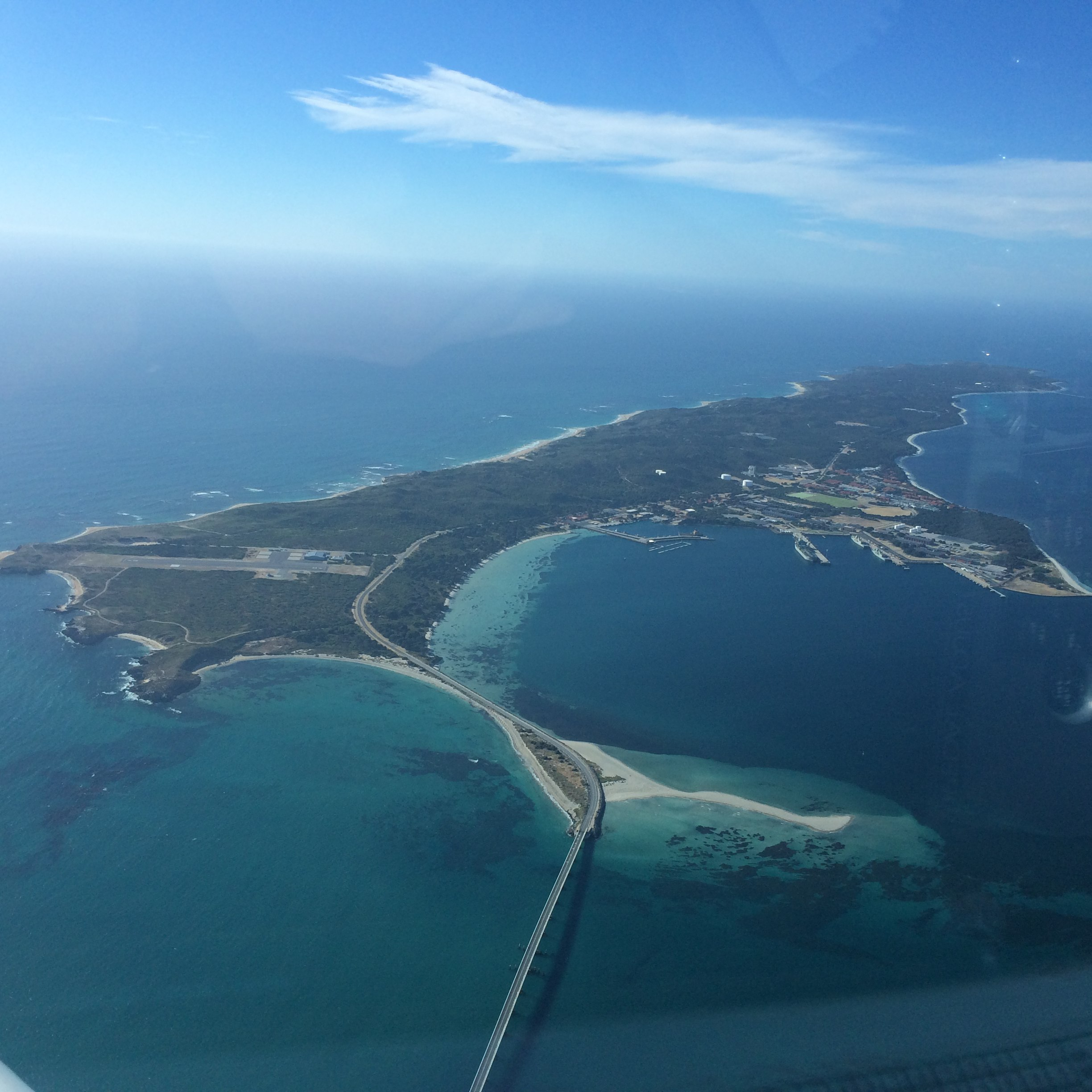 garden island western australia from university flying club aircraft VH-EZT