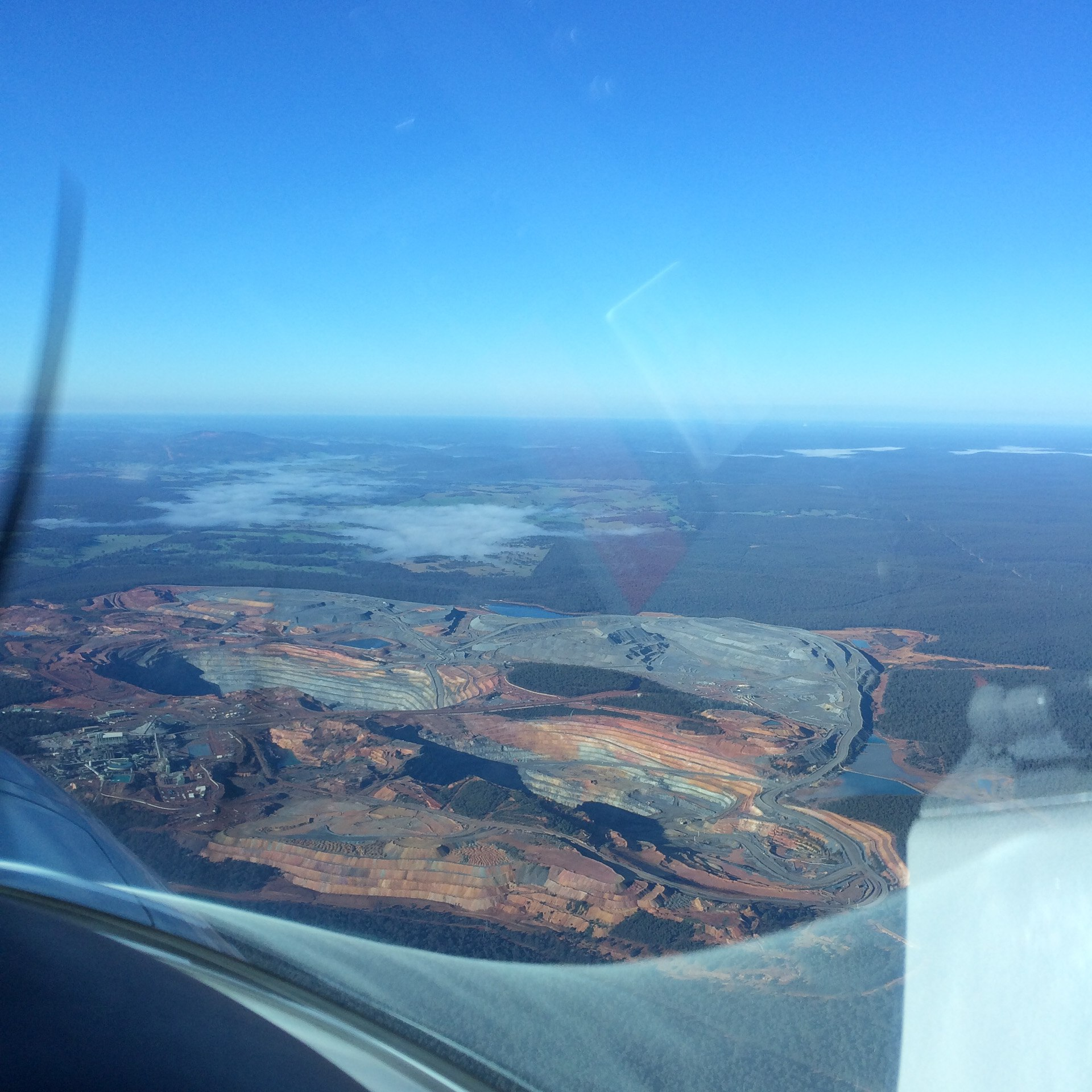 boddington mine from the air vh-ezt UFC uni flying club jandakot learn to fly aircraft hire