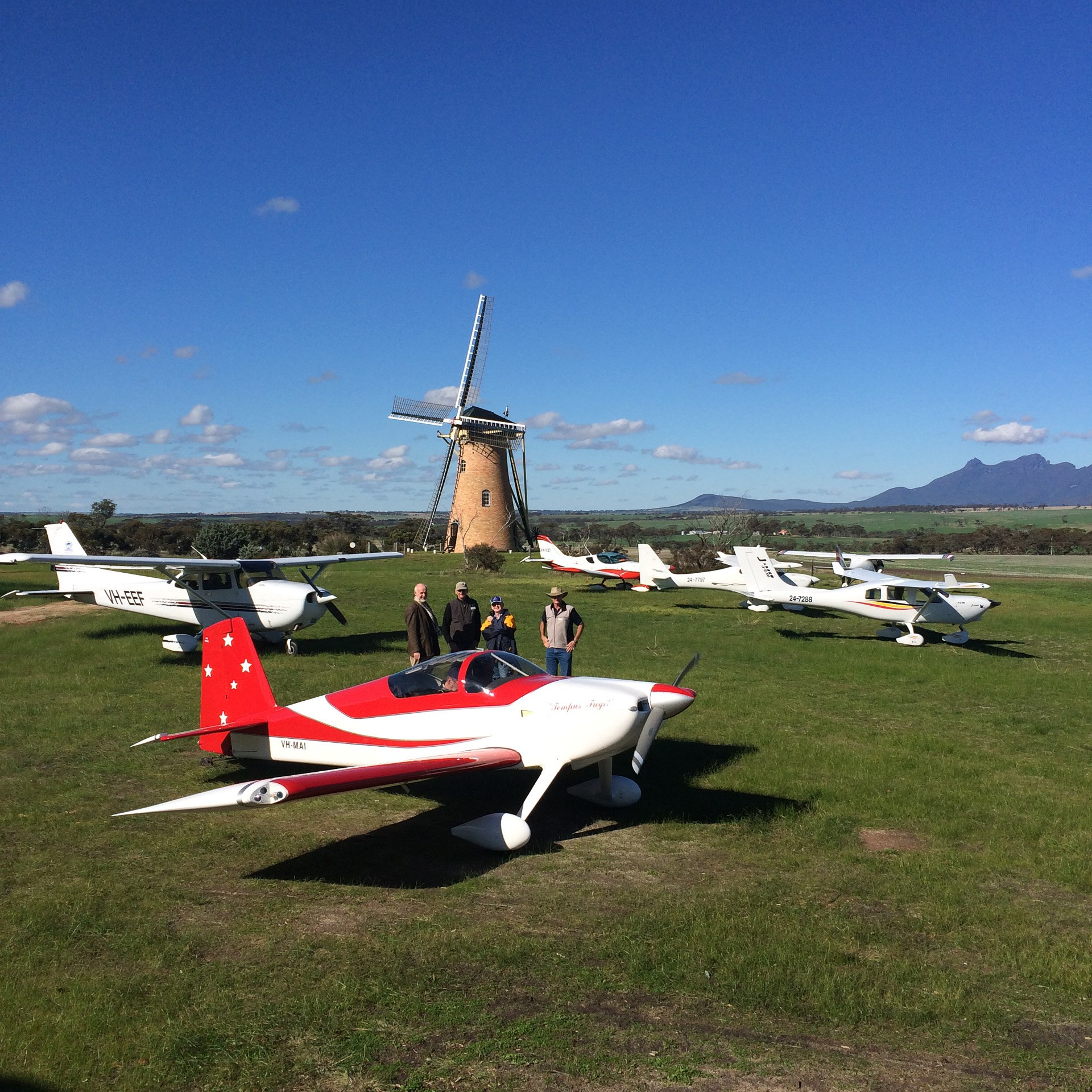 aircraft at the lily dutch windmill runway airstrip
