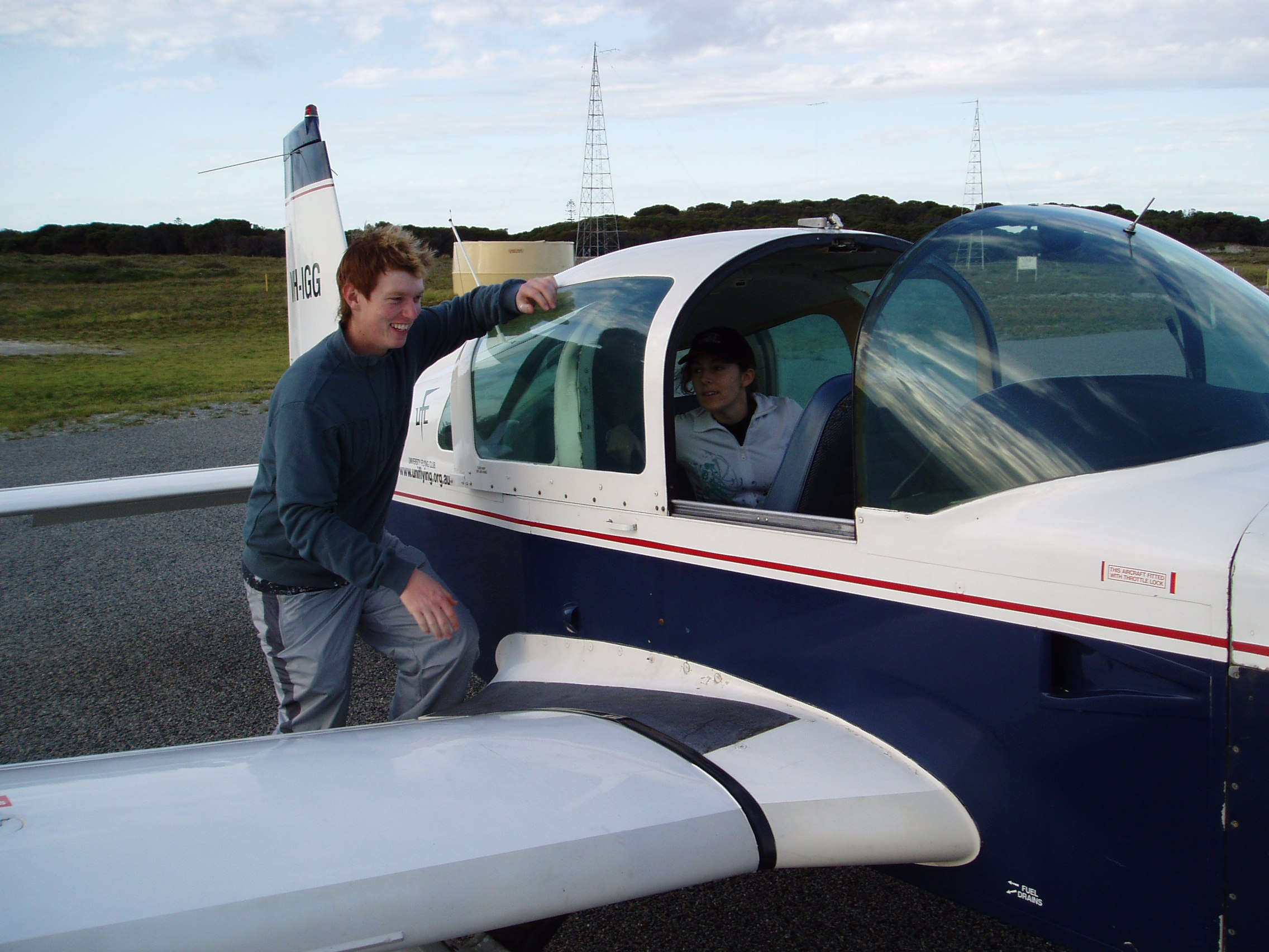 VH-IGG at Rottnest Island Airport University Flying Club
