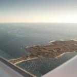 VH-EZT over rottnest island twilight