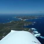 VH-EZT CSA pipersport sportscruiser flying around rottnest island ocean