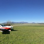 VH-EZT at the lily dutch windmill runway airstrip